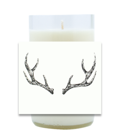 Antlers Hand Poured Soy Candle | Furbish & Fire Candle Co.