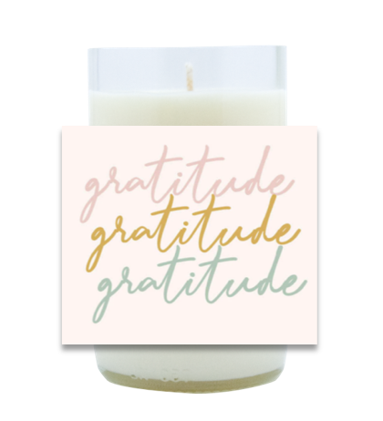 Gratitude Hand Poured Soy Candle | Furbish & Fire Candle Co.