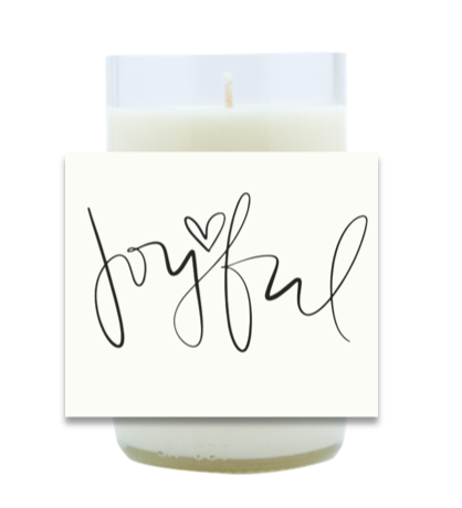 Joyful Hand Poured Soy Candle | Furbish & Fire Candle Co.