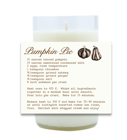 Pumpkin Pie Hand Poured Soy Candle | Furbish & Fire Candle Co.