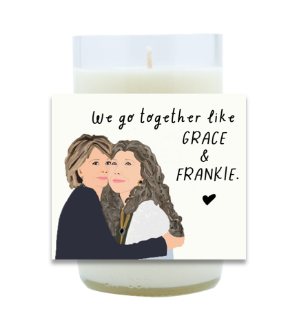 Grace and Frankie Hand Poured Soy Candle   Furbish & Fire Candle Co.